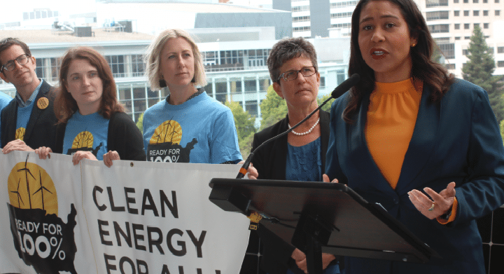 Mayor London Breed and Debbie Raphael, head of SF Environment and TheHumSum.org Co-Chair, announce Global Climate Action Summit Kick Off!