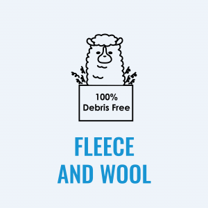 Fleece & Wool, 100% debris-free