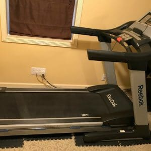 Side view of treadmill